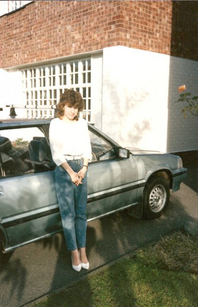 Toni at Langport Drive approximately 1987.