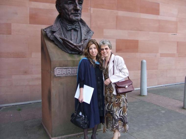 Toni's graduation, Bridgewater Hall, Manchester.